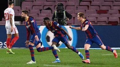 برشلونة يجتاز إشبيلية ويبلغ نهائي كأس إسبانيا