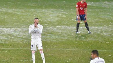 بعثة ريال مدريد عالقة في بامبلونا بسبب عاصفة ثلجية