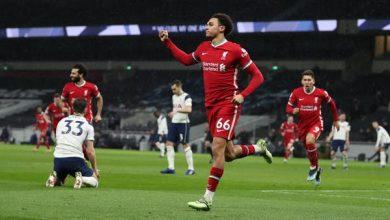 ليفربول ينتفض ويهزم توتنهام بثلاثية