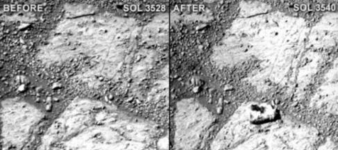 المريخ: ذهول علماء الأرض بعد ظهور صخرة من العدم